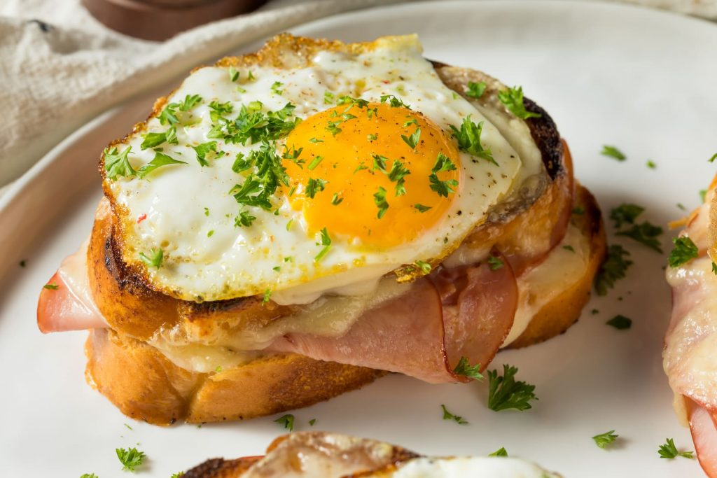 The croque madame sandwich, one of the nine easy french recipes featured in our blog post