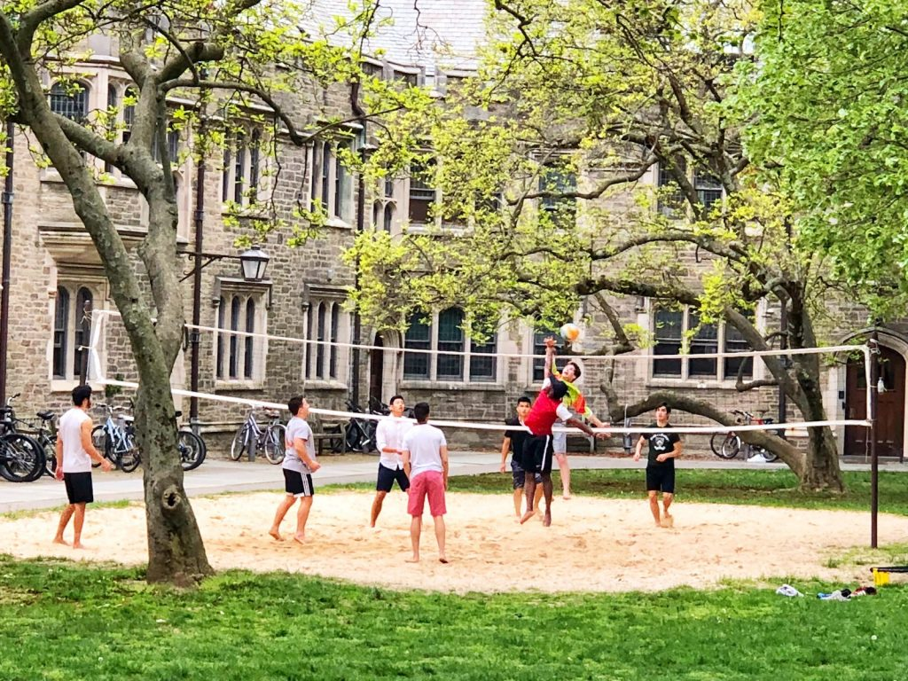 Outdoor Volleyball Game on a court of sand